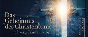 (Deutsch) Seminar Das Geheimnis des Christentums 25.-27. Jan. 2019